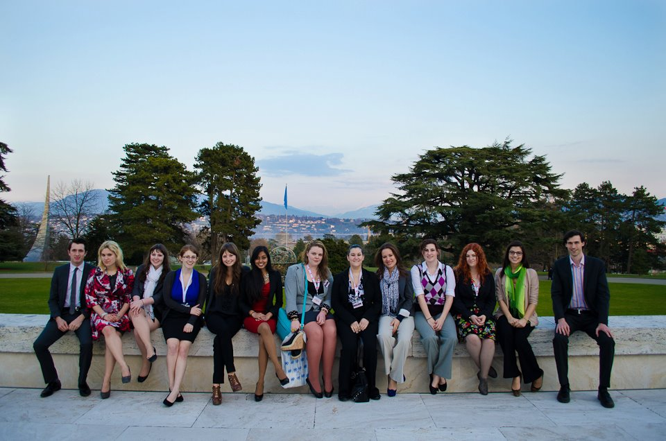 pace students exercise global citizenship in geneva