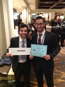 Nour Moussa el Din and Luke Froude, Pace University New York City students at the 2013 National Model UN conference.