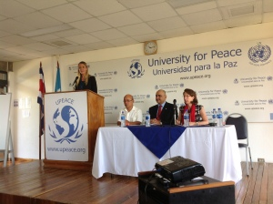 Opening Ceremony of the 2013 United Nations University for Peace Model UN conference in Costa Rica, attended by 13 Pace University New York City students in March.