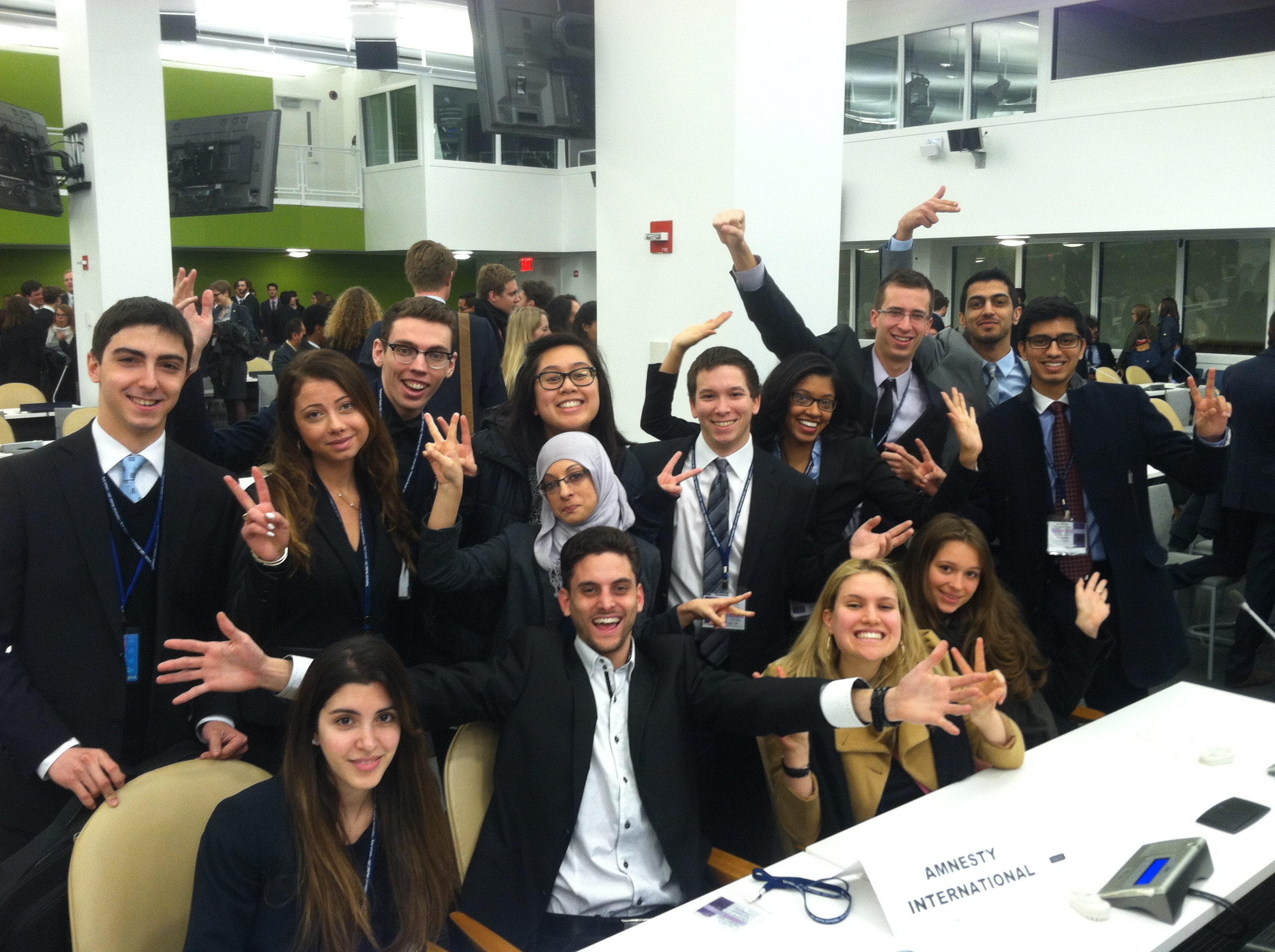 pace model un students represent global civil society
