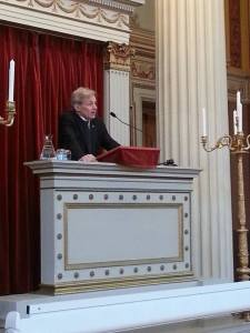 Jan Egeland, former Under Secretary General of the United Nations, addressing the 2015 OsloMUN conference in Norway.
