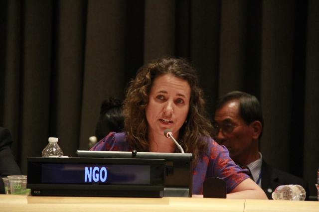 Dr. Emily Welty, director of peace and justice studies at Pace University New York City and vice-moderator of the World Council of Churches Commission on International Affairs addressed the 2015 nuclear Non-Proliferation Treaty Review Conference at the United Nations